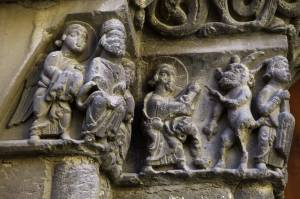 Capiteles románicos,  iglesia de San Pedro de Fraga