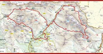 Mapa del Gran Trail Aneto-Posets