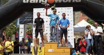 Daniel Amat, Rafael Martín y Sebastián Sánchez, ganadores del GT masculino.