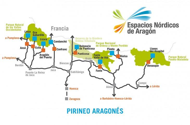 Plano Espacios Nórdicos de Aragón