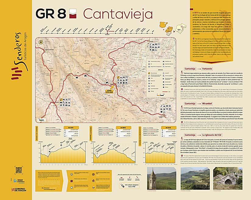 GR 8 en Cantavieja