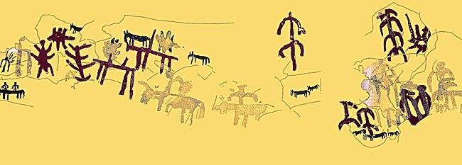 Calco de pinturas de los Estrechos I.