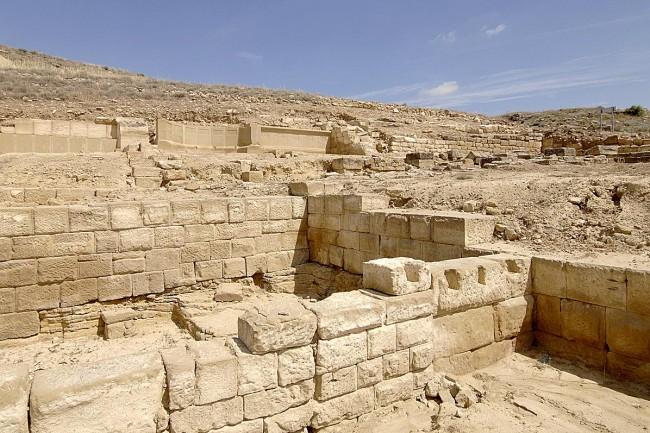 Edificios excavados en la zona del foro.