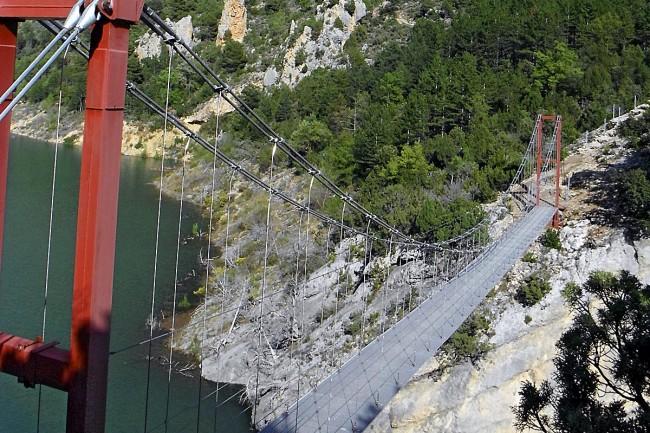 Puente colgante de Siegué.