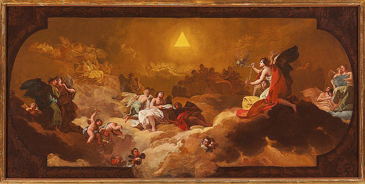 Francisco Goya y Lucientes. La Gloria o La adoración del nombre de Dios, 1771-1772. Óleo sobre lienzo, Museo Goya. Colección Ibercaja. Fotografía: Daniel Marcos.