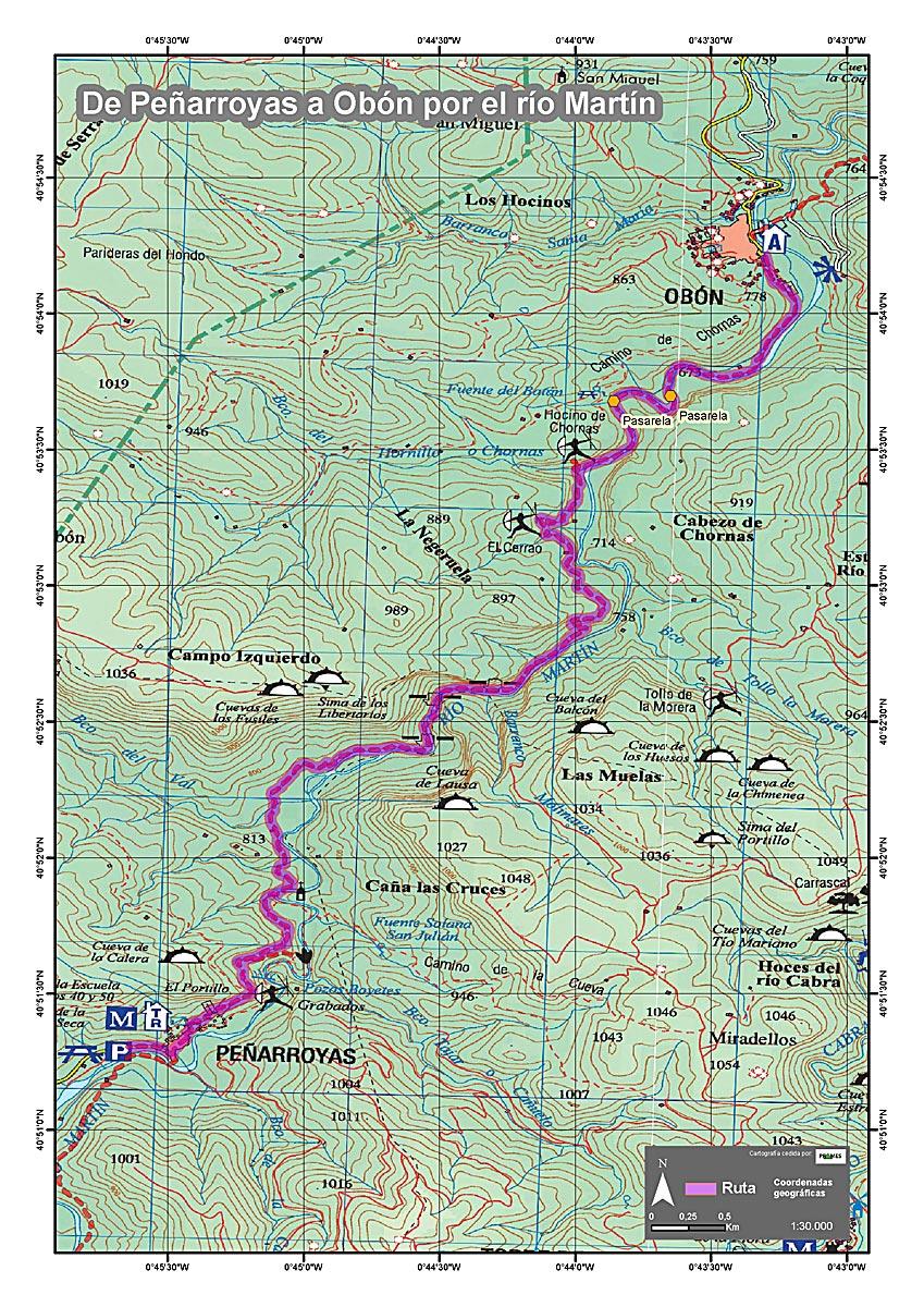 GR262_Peñarroyas_Obon_mapa