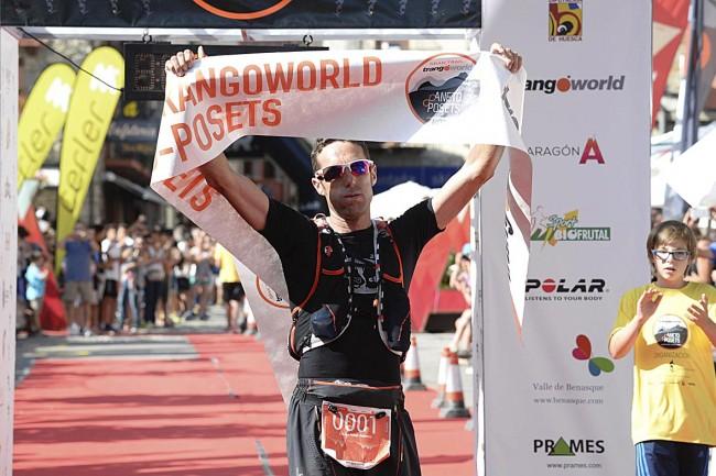 Llegada Dani Amat, ganador del Gran Trail Aneto-Posets.
