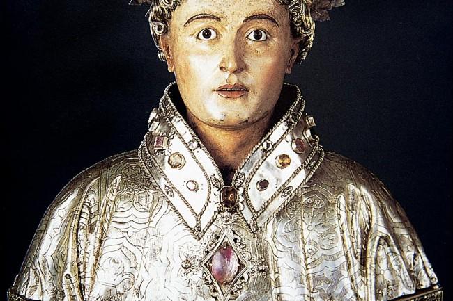 Busto de san lorenzo conservado en Huesca (foto: Archivo Prames).