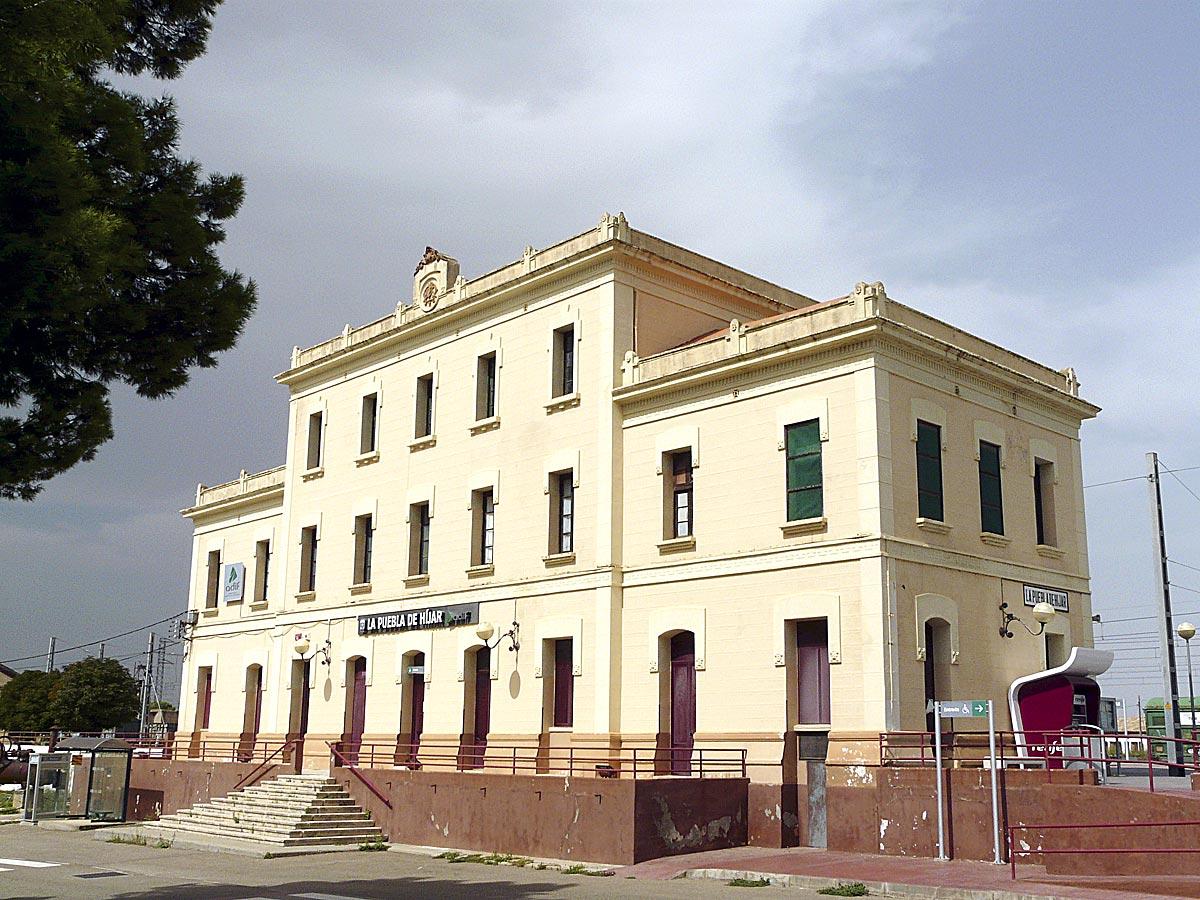 Estación de La Puebla de Híjar.