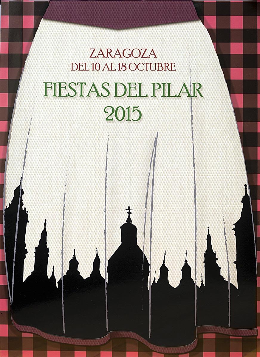 Cartel de las Fiestas del Pilar 2015, obra de la oscense Idoia Muro.