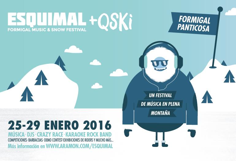 Cartel del festival de música Esquimal+QSKI.