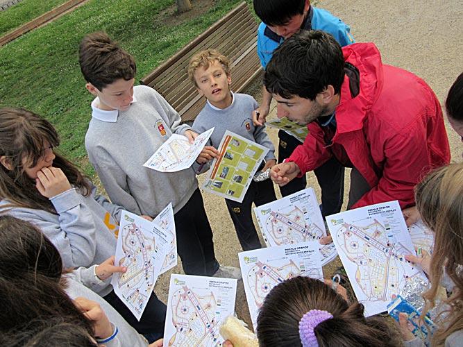 orientación en parques mapa