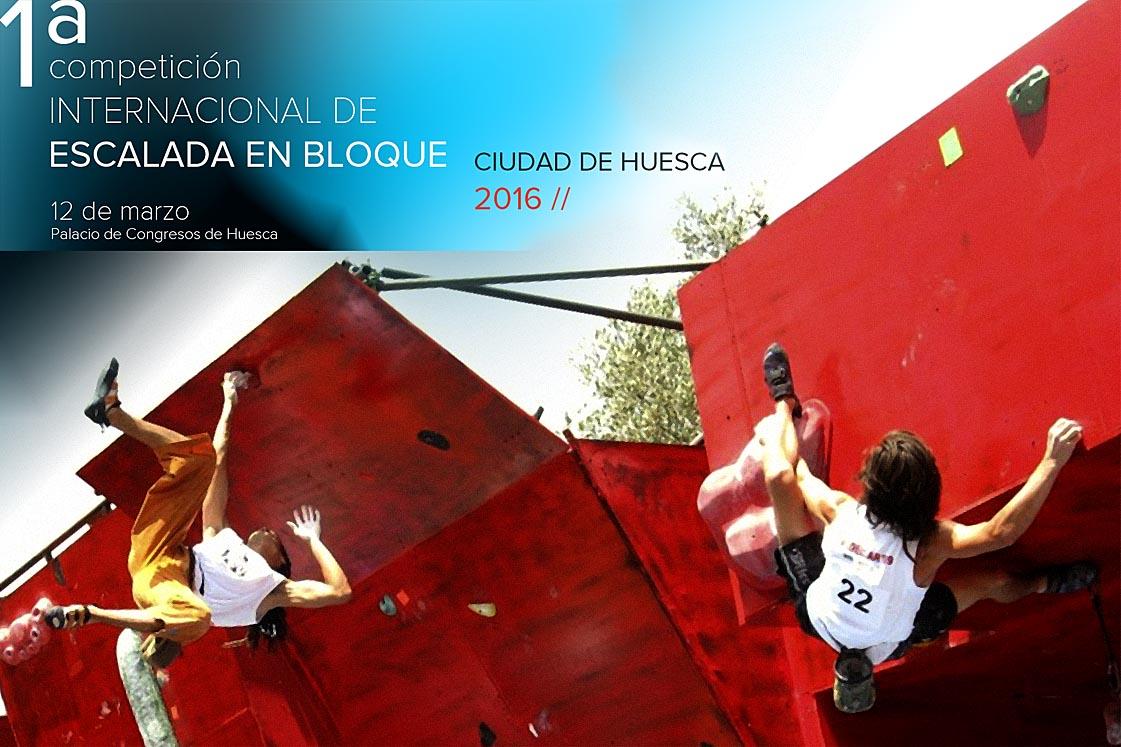 I Competición Internacional dede escalada en bloque Ciudad de Huesca 2016