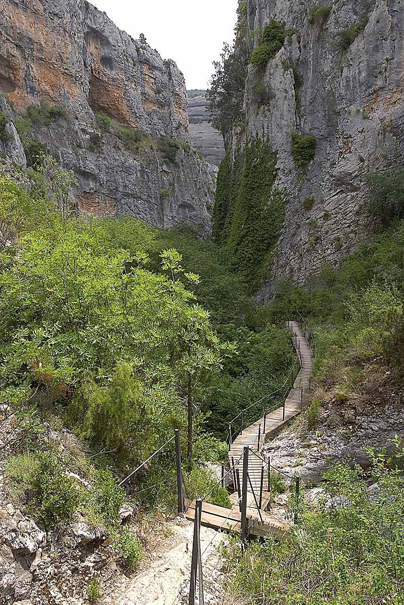 Pasarelas de Alquézar, barranco de la Fuente.