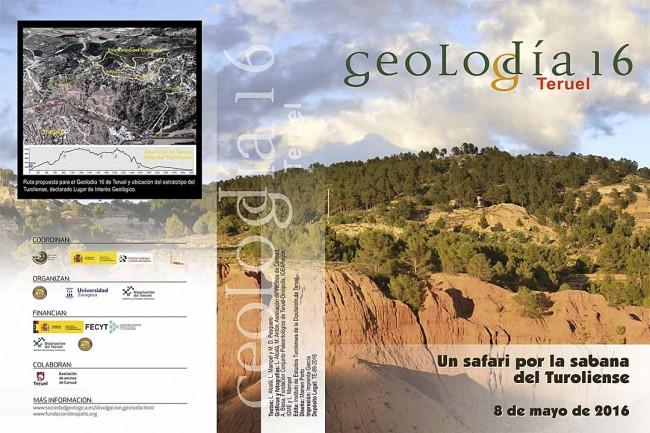 folleto de Geolodía Teruel 2016