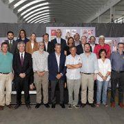 Principales accionistas y autoridades presentes en el aniversario.