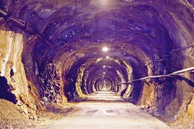 Entrada al tunel de Llauset.