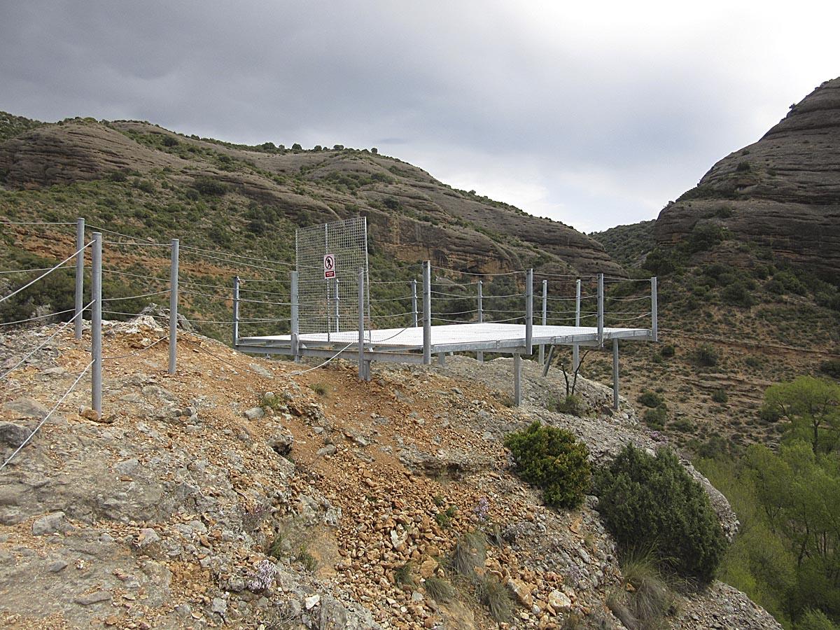 Mirador sobre el Vero , Alquézar, ruta de las pasarelas.