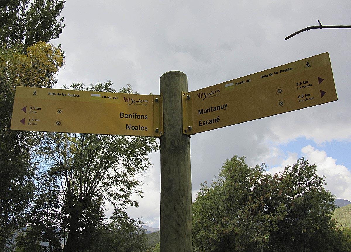 Ruta de los Pueblos de Montanuy.