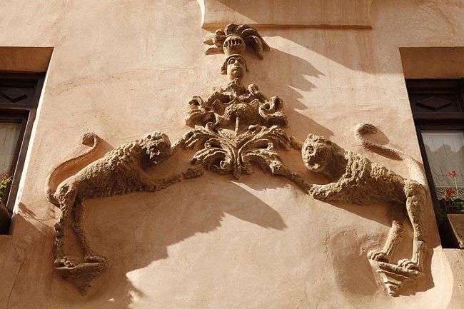 Fachada de Rubielos de Mora.