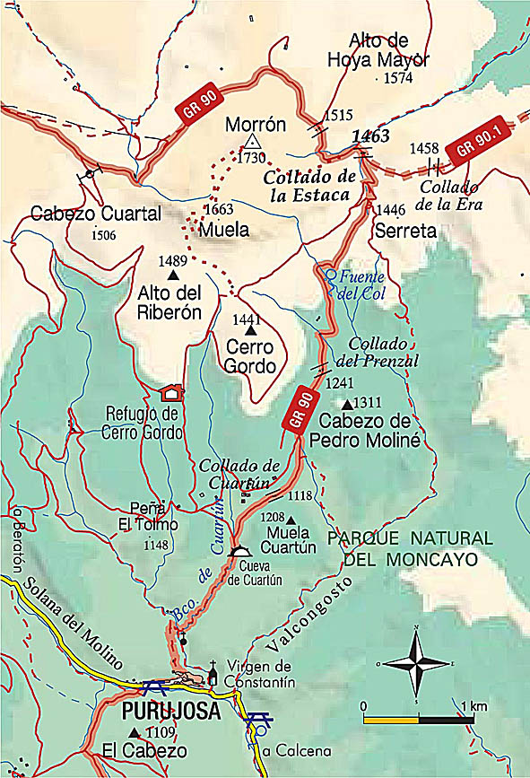 Mapa de la ruta.