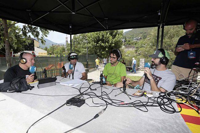 Estudio en directo de Territorio Trail Radio, que cubrió todo el evento. FOTOS GTTAP