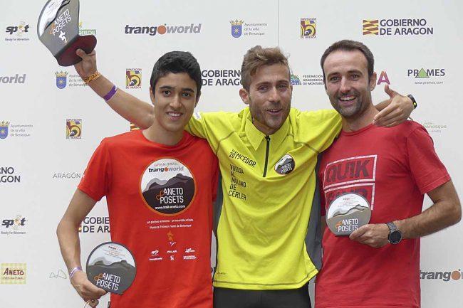 Ganadores de la Vuelta al Molino de Cerler: 1º Jorge SALAS (00:59:39), 2º José Domingo RUIZ y 3º Omar SANCHO.