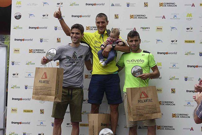 Ganadores de la Maratón de las Tucas, absoluta masculina: 1º Eduardo SALVADOR (04:57), 2º Urko VALDIVIELSO y 3º Carlos SÁNCHEZ.