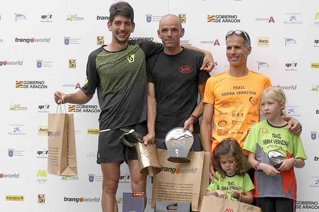 Ganadores de la Vuelta al Aneto (absoluta nasculina): 1º Toni CALDERÓN GUILLÉN (07:54:38), 2º Víctor FERNÁNDEZ DÍAZ y 3º Xavier TOMÁS ESMEL.