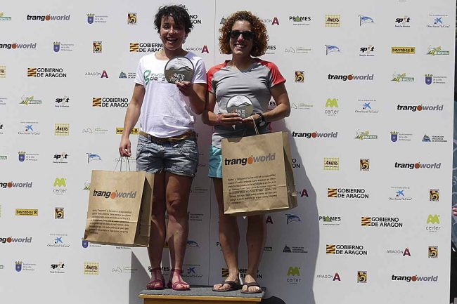 Belén RODRÍGUEZ DOÑATE y Natalia ROMÁN LÓPEZ, 2ª y 3ª clasificadas del Gran Trail Aneto-Posets (absoluta femenina).
