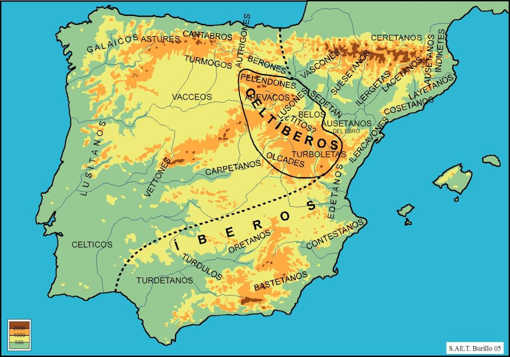 mapa celtiberia