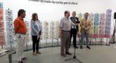 Miguel Calvo en el acto de inauguración de la exposición 'Construyendo la tabla periódica'.