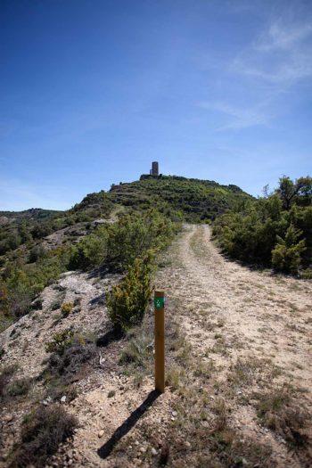 Torres Vigía de Viacamp, sendero