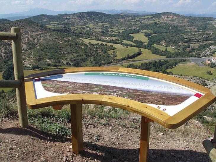 Torres Vigía de Viacamp, mesa panorámica
