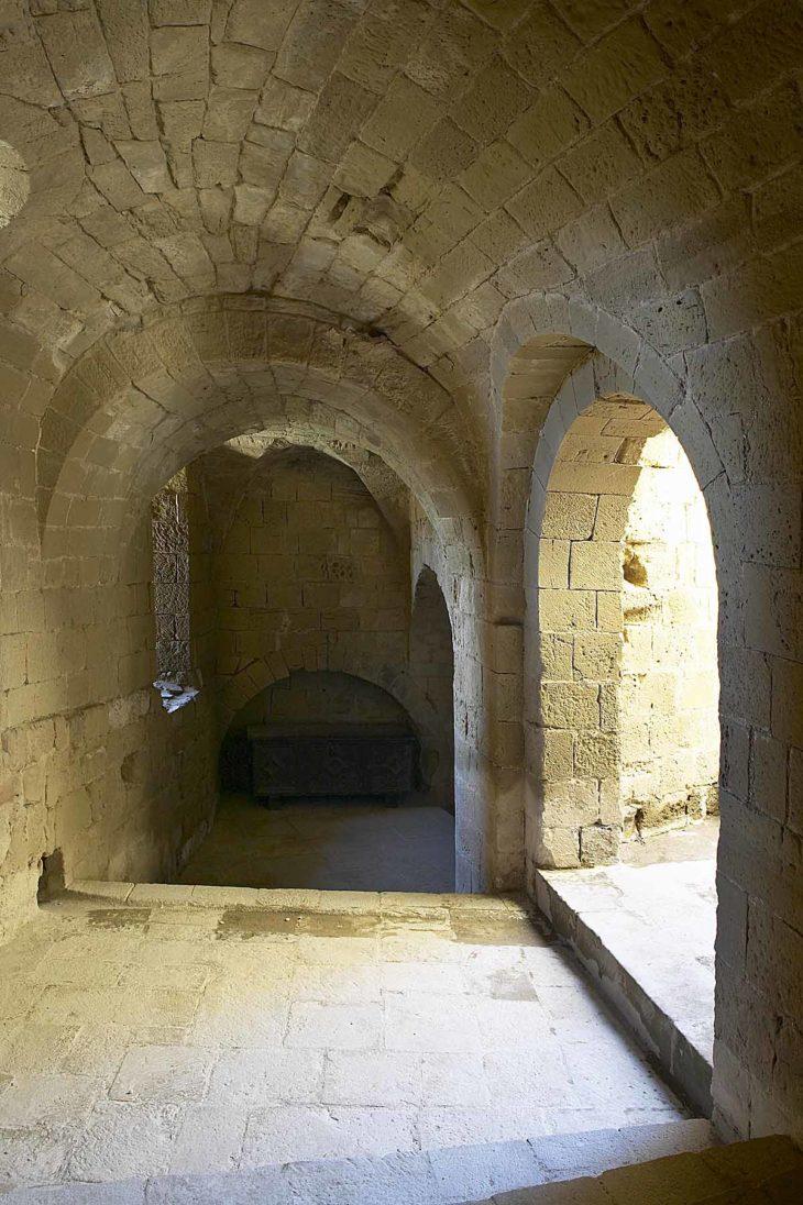 Castillo de Loarre, interior.