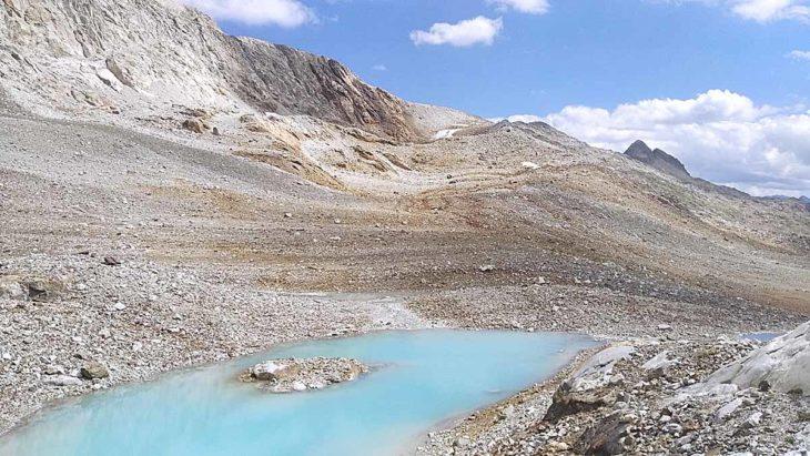 Nuevos ibones en el Pirineo, ibón intermedio de Lliterola