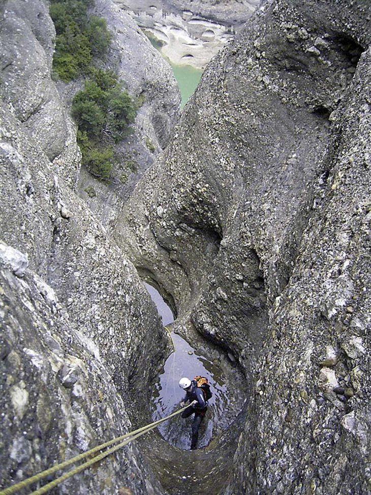 Ríos en roca, barranco Cuevas de la Reina