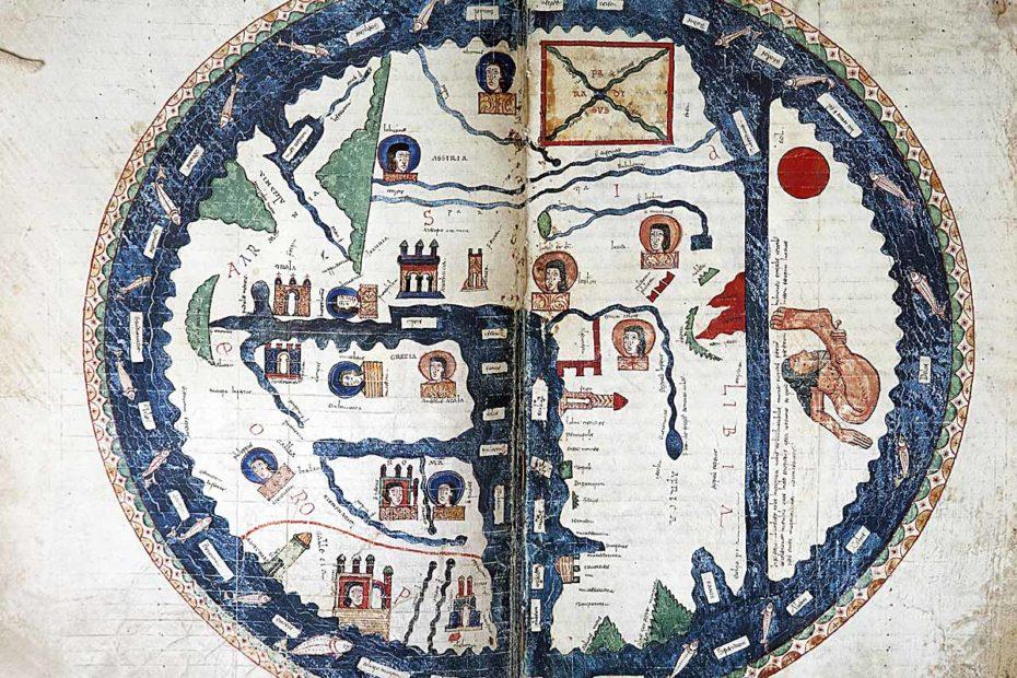 Mapamundi en el Beato del Burgo de Osma