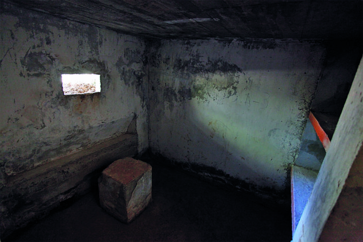 Interior del primer búnker, Panticosa