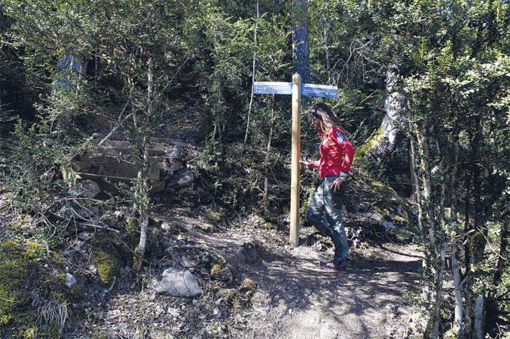 Bifurcación pasarelas de Panticosa
